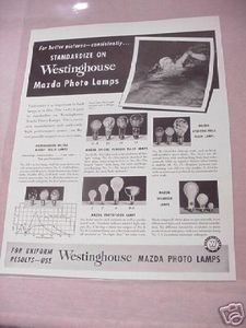 1941 Westinghouse Mazda Photo Lamps Photography Ad