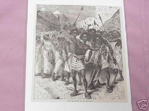 1889 Africa Illustrated Page Murder of M. Maizan