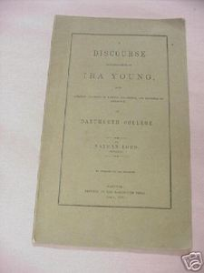 Dartmouth College 1859 Booklet Eulogy Professor Ira Young