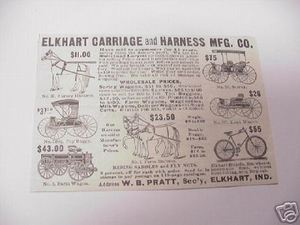 1894 Ad Elkhart Carriage and Harness Mfg. Co.Indiana