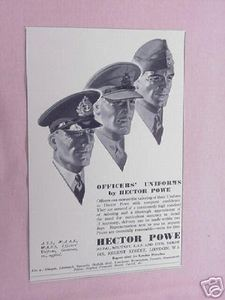1939 Ad Hector Powe Military Officers Uniforms Tailors