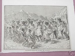 1889 Africa Illustrated Page Festival Dance For Gordon