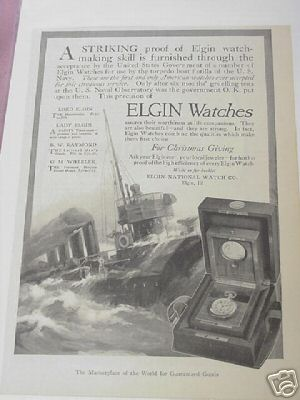1914 Ad Elgin Watches Elgin National Watch Co,