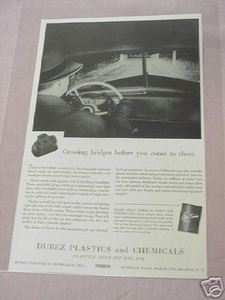 1941 Ad Durez Plastics and Chemicals North Tonawanda NY