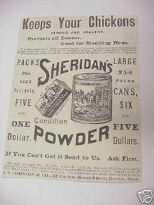 1894 Ad Sheridan's Powder for Poultry I. S. Johnson Co