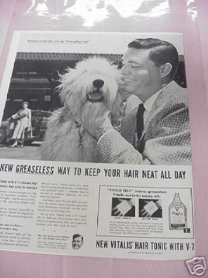 1954 Vitalis Hair Tonic Ad With Arthur Godfrey