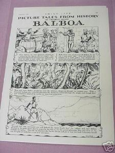 1932 Picture Tales from History Balboa One Page Article