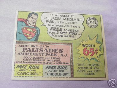 1962 Ad Superman Palisades Amusement Park, N. J.