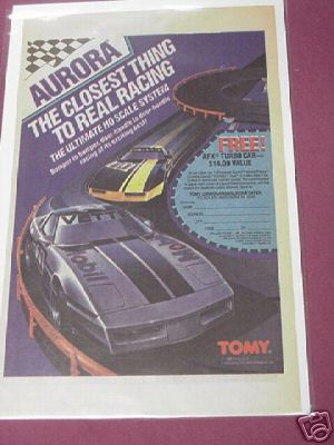 1986 Aurora Tomy Slot Car Color Ad