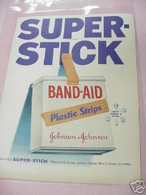 1955 Johnson & Johnson Band Aid