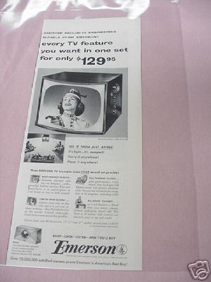 1954 Emerson Model 1060 Television Ad
