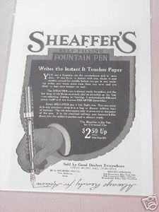 1918 Ad Sheaffer's Self-Filling Fountain Pen