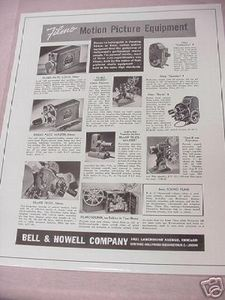 1941 Filmo Motion Picture Equipment Ad Bell & Howell Co