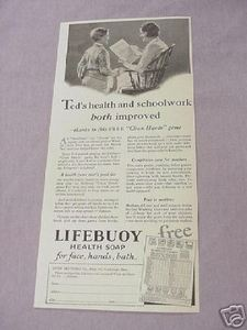 1931 Ad Lifebuoy Health Soap For Face, Hands, Bath