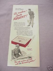 1942 Regent Cigarettes World War II Ad