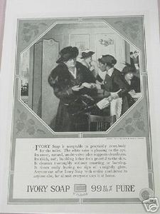 1918 Ad Ivory Soap Maid Handing Out Ivory Soap