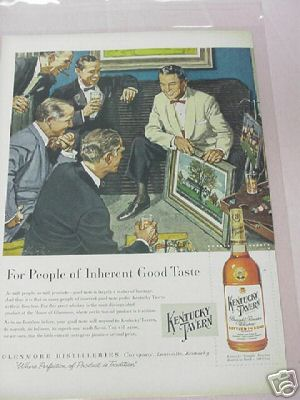 1955 Kentucky Tavern Straight Bourbon Whiskey Ad