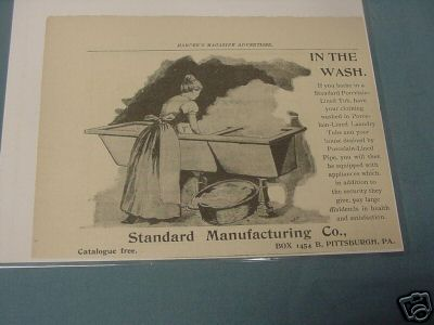 1893 Tub Ad Standard Manufacturing Co., Pittsbugh, Pa.