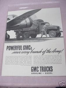 1941 Ad GMC Trucks Serve Every Branch of the Army