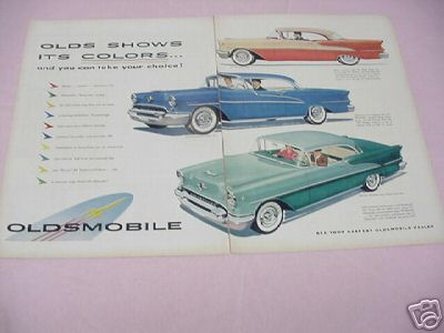 1955 Oldsmobile Color Ad