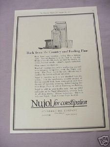 1917 Ad Nujol For Constipation Standard Oil Company