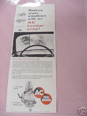 1954 AC Fuel and Vacuum Booster Pump Ad GM