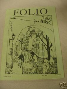 Folio Magazine Fall 1963 Poetry Magazine Brandeis University
