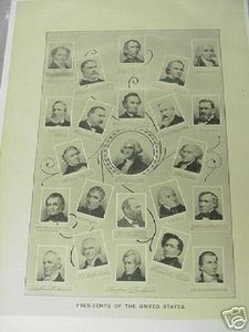 1894 Illustrated Page Presidents of the United States