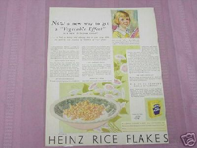 1930 Heinz Rice Flakes Color Ad