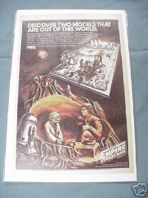 1981 MPC Star Wars Empire Strikes Back Models Color Ad