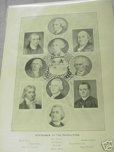 1894 Illustrated Page American Revolution Statesmen
