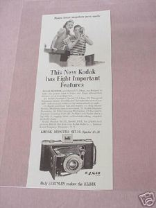 1941 Ad Kodak Monitor Six-16 With Special f/4.5 Lens