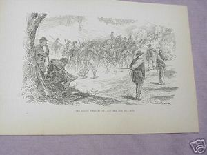 1894 Civil War Illustrated Page Dusty Roads & Hot Day