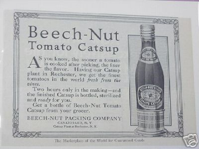 1915 Ad Beech-Nut Tomato Catsup, Rochester, N. Y.