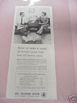 1959 Bell Telephone Long Distance Ad