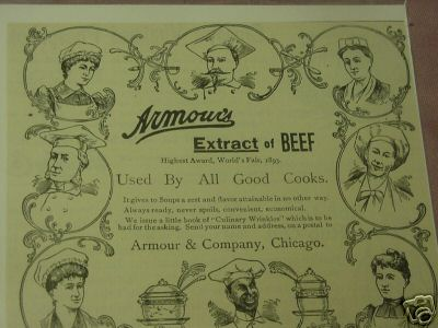1894 Ad Armour's Extract of Beef Armour & Co. Chicago