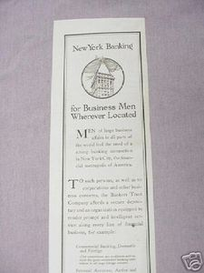 1919 Ad Bankers Trust Company New York City