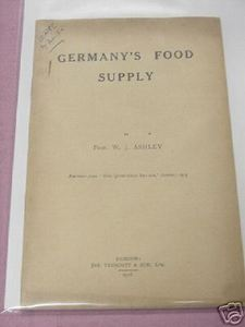 Germany's Food Supply WWI 1916 WWI Booklet