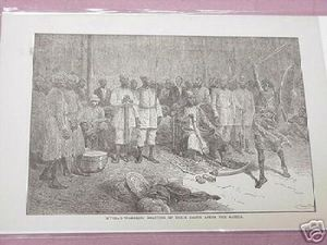 1889 Africa Illustrated Page M'Tesa's Warriors