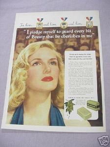 1942 Palmolive Soap World War II Color Ad