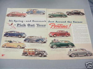 1940 Ad Pick Your Own Pontiac 11 Models Featured