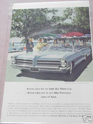 1965 Pontiac Ad Some Cars Try to look Like Pontiacs