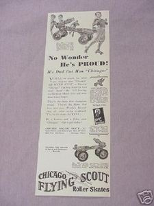 1931 Ad Chicago Flying Scout Roller Skates