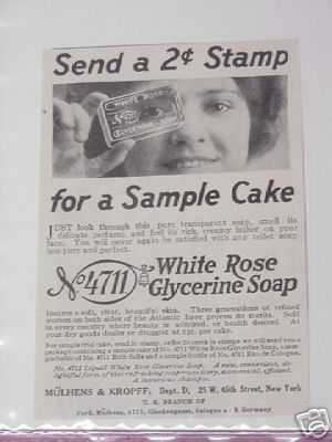 1914 White Rose Glycerine Soap Ad
