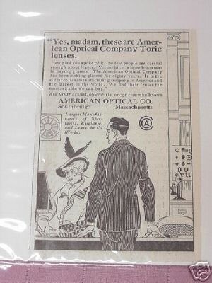 1915 Ad American Optical Company, Southbridge, Mass.