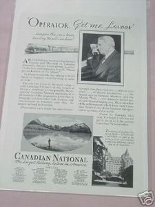 1931 Canadian National Railway Ad CN CNR