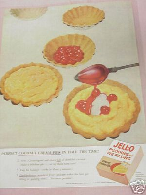 1953 Jell-O Pudding and Pie-Filling Color Ad