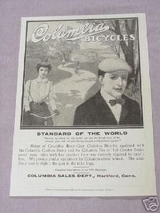 1901 Columbia Bicycles Ad Standard of the World