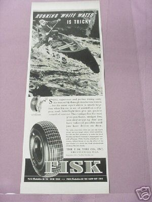 1939 Ad Fisk Tires, Chicopee Falls, Mass.