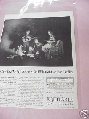 1954 Ad The Equitable Life Assurance Society